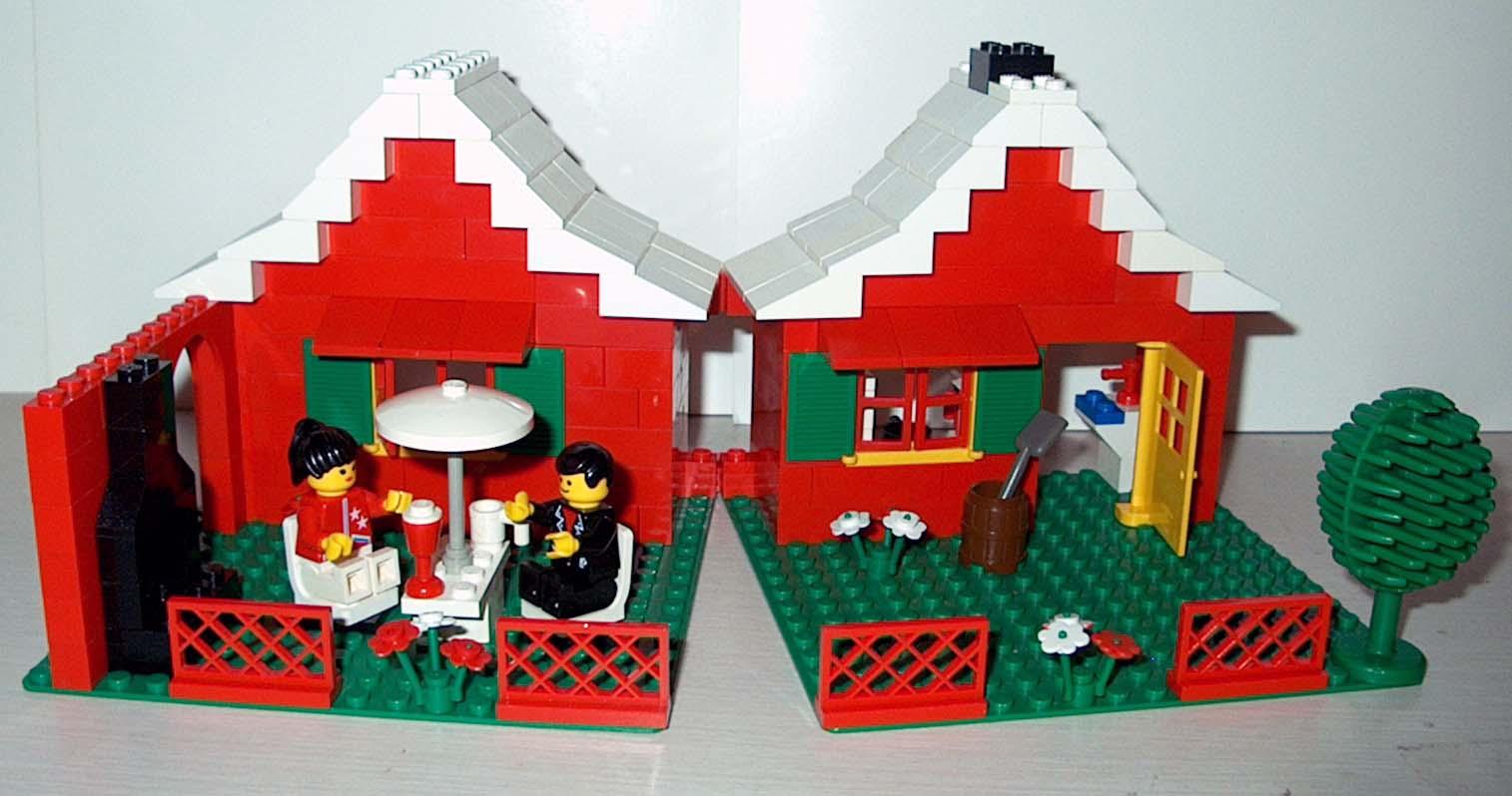 Custom Lego Set 80's Town House w Car Figs Cond